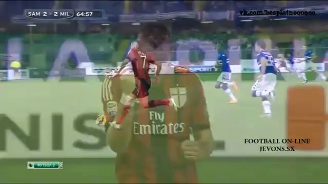 Summary of the whole Match & All Goals [FULL HD] Sampdoria vs AC Milan (2-2) 08-11-2014 ~ Serie A