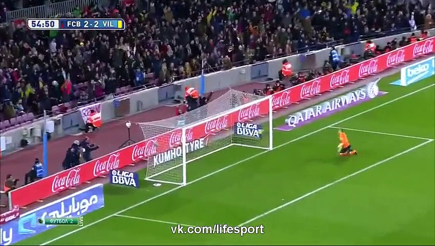 Amazing Lionel Messi Goal – Barcelona vs Villarreal (3-2) La Liga 2015 HD