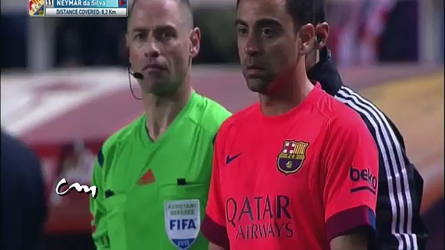 Neymar Angry reaction after been substituted by Luis Enrique !