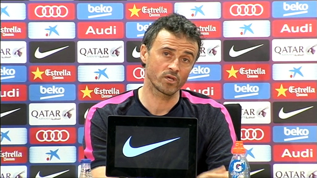 Luis Enrique sees his side in top form at the moment