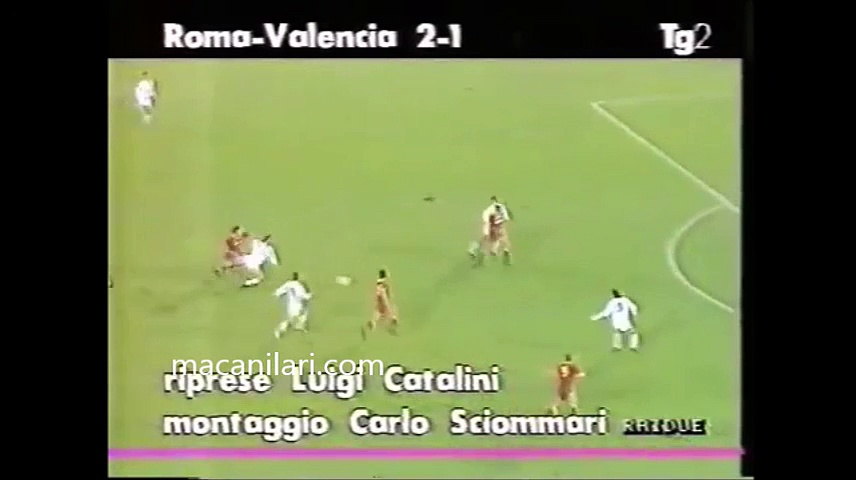 07.11.1991 – 1990-1991 UEFA Cup 2nd Round 2nd Leg AS Roma 2-1 Valencia CF