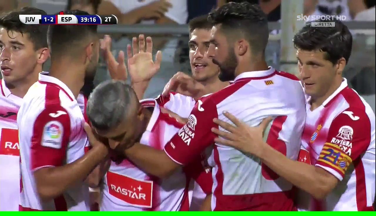 1-2 Gerard Moreno Goal International  Club Friendly – 13.08.2016, Juventus FC 1-2 RCD Espanyol
