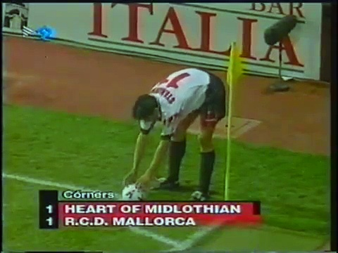 17.09.1998 – 1998-1999 UEFA Cup Winners' Cup 1st Round 1st Leg Heart of Midlothian FC 0-1 RCD Mallorca