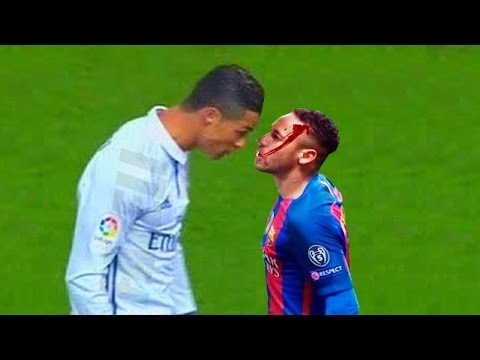 El Clasico – Real Madrid vs Barcelona – Fights, Fouls, Dives & Red Cards