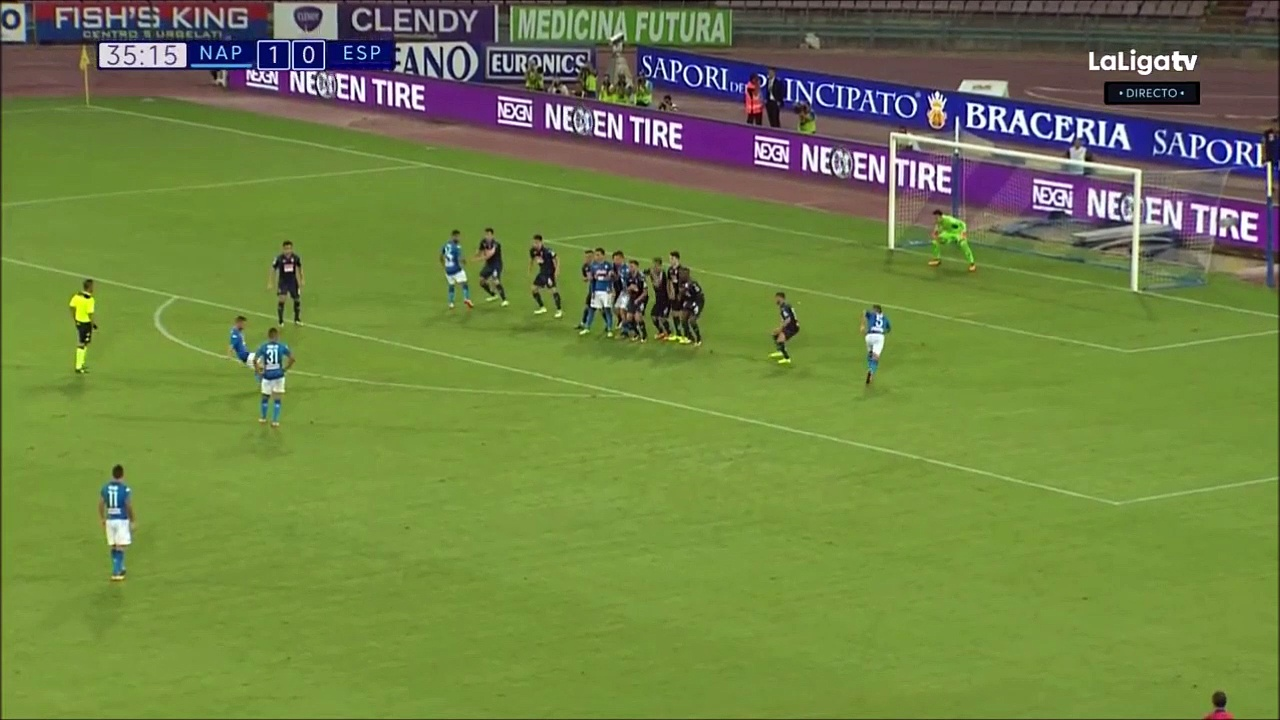 1-0 Dries Mertens Goal International  Club Friendly – 10.08.2017 SSC Napoli 1-0 RCD Espanyol