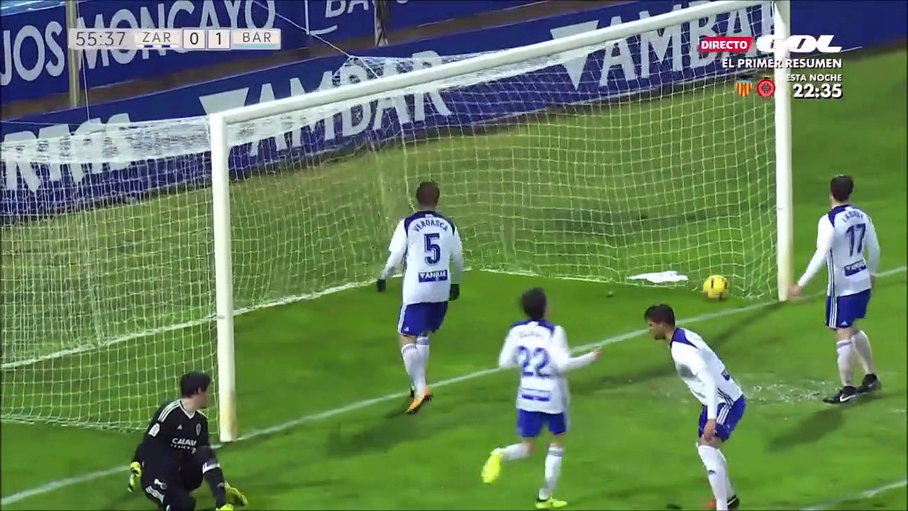 All Goals Spain  Segunda Division – 06.01.2018 Real Zaragoza 1-1 Barcelona B