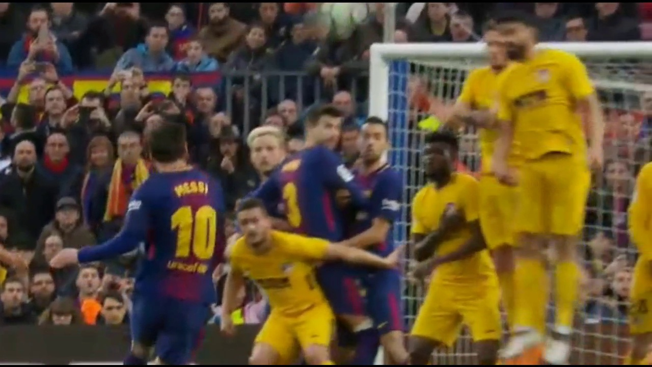 Messi Amazing Free Kick Goal Barça X A. Madrid 04.03.2018