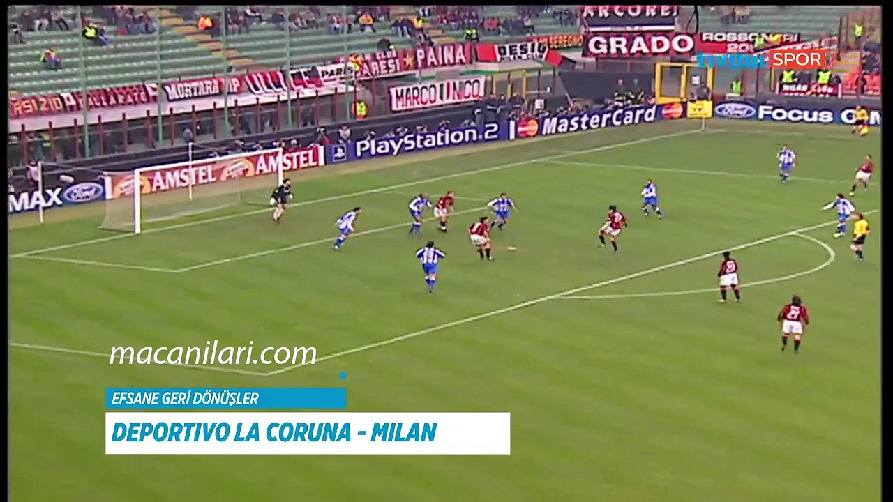 [HD] 07.04.2004 – 2003-2004 UEFA Champions League Quarter Final 2nd Leg Deportivo de La Coruna 4-0 AC Milan