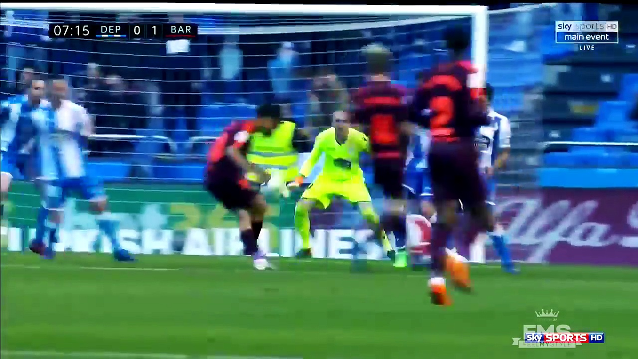 Deportivo vs Barcelona (2-4) Barcelona Champions Goals Highlights // Resumen y Goles