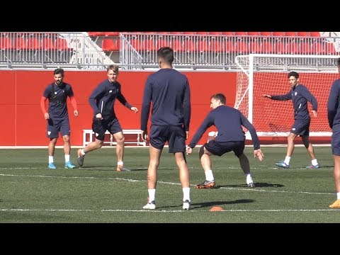 Sevilla Train Ahead Of Manchester United Clash In The Champions League