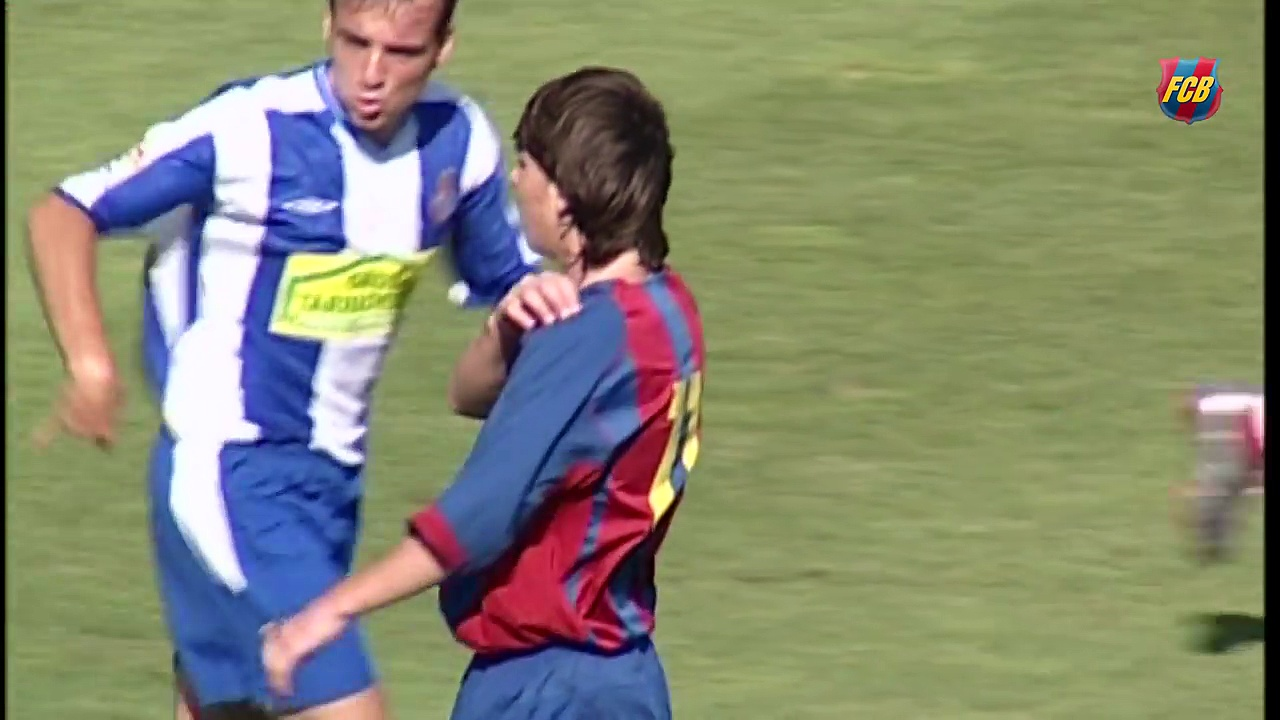 Spectacular exhibition by Lionel Messi in a 2004/05 Barça B derby