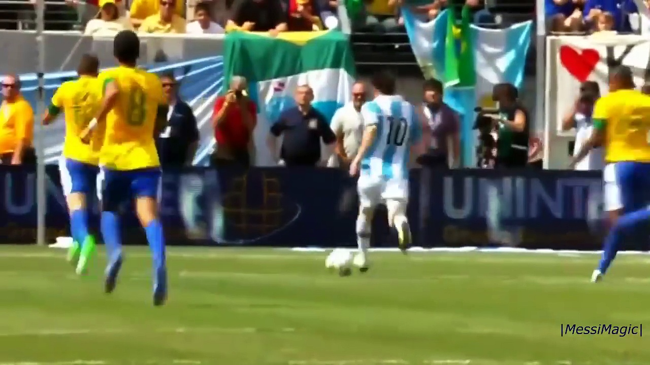 Lionel Messi ● All 5 Goals vs Brazil [2005-2014] ||HD||