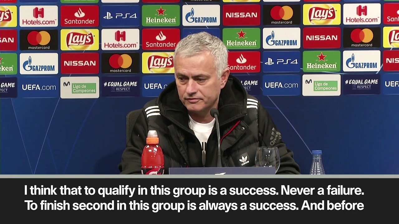 Eng Sub: Mourinho considers being second in the group a 'success'