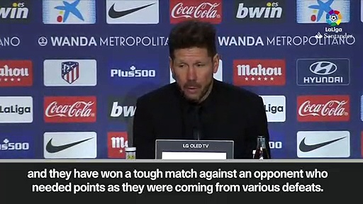 Eng Sub: Simeone 'proud' of Atletico Madrid after 1-0 win against Espanyol in La Liga