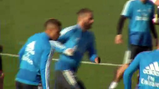Real Madrid train and talk ahead of Spanish La Liga match against Levante