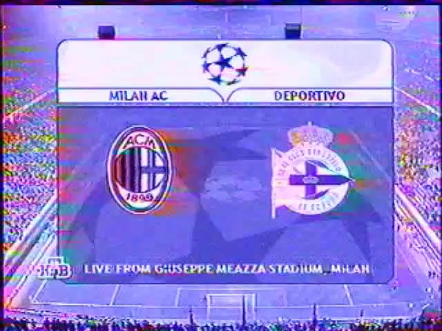Milan v. Deportivo 13.03.2001 Champions League 2000/2001 highlights