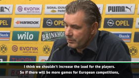 Dortmund director Zorc against increasing fixture schedule