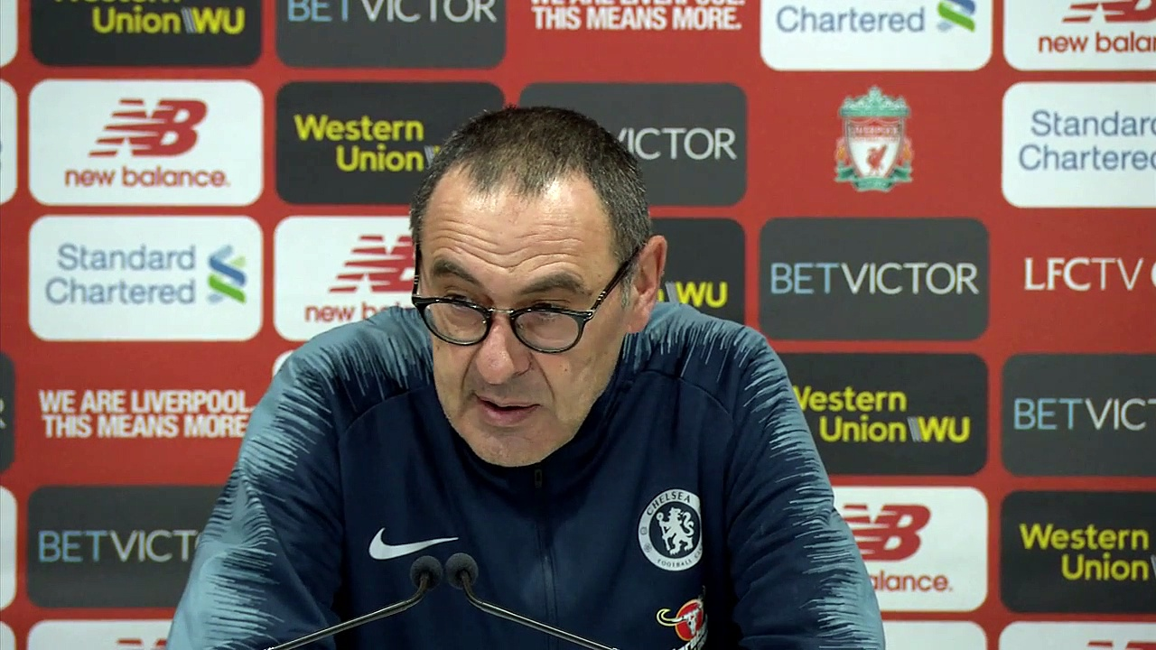 Sarri says Chelsea 'unlucky' for Salah's goal timing in 2-0 defeat to Liverpool in EPL